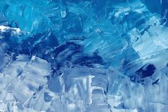 Abstract background texture in blue tones, brush strokes. With oil paints on canvas vector illustration