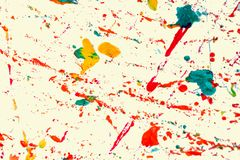 Abstract background and texture colorful of water color splash stock photography