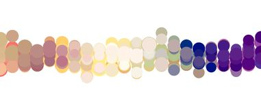 Abstract background or texture for design, pattern shape. Concept, art, backdrop & wallpaper. Colored abstract overlapping circles, bubbles or ellipses, pattern Stock Photos