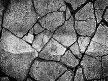 Abstract background of texture of dry cracked cement ground. On the road Stock Images