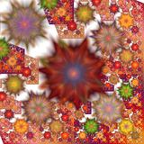 Abstract background. Abstract texture with intricate floral pattern stock illustration