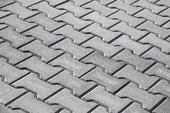 Abstract background texture of modern cobblestone road Royalty Free Stock Photos