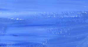 Abstract background. The texture of the painted surface in several shades of blue. Hand-drawn gouache illustration stock illustration