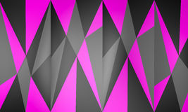 Abstract background texture pink. 3D geometric shapes with pink color background Stock Photography