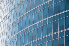 Abstract background texture with reflected in windows of modern office building. Royalty Free Stock Image
