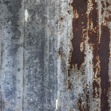 Abstract background texture of rusty corrugated iron Royalty Free Stock Image
