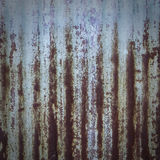 Abstract background texture of rusty corrugated iron Royalty Free Stock Images