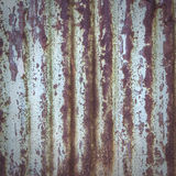 Abstract background texture of rusty corrugated iron Stock Image