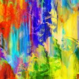 A Vibrant Abstract Paint Grunge Texture. An abstract background texture with vibrant paint strokes Royalty Free Stock Photos