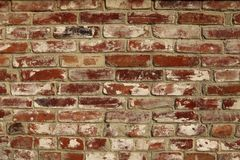 Abstract background .The texture of the wall of red brick. Cropped shot, horizontal, place for text, nobody, outdoors. Construction concept stock image