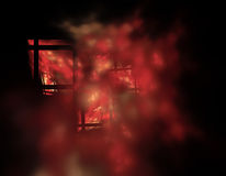 Abstract background texture. Wİndows and fire like Abstract shapes and lights on black background Royalty Free Stock Photo
