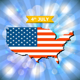 Abstract background 4th July Happy Memorial Day with American fl Stock Photos