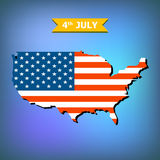 Abstract background 4th July Happy Memorial Day American flag Royalty Free Stock Photo