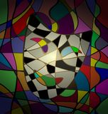Abstract background theatrical mask camedy Stock Photos