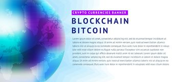 Abstract background on the theme of blockchain and crypto currency. Abstract background on the theme of blockade and crypto currency in blue and purple colors Royalty Free Stock Photos