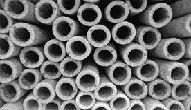 Heat insulation for pipes Stock Photography