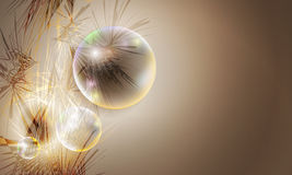Abstract background. With three bubbles Royalty Free Stock Images