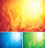 Abstract background. Three color abstract backgrounds. Eps8 CMYK Organized by layers Global colors Gradients used royalty free illustration