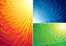 Abstract background. Three color abstract backgrounds. Eps8 CMYK Organized by layers Global colors Gradients used vector illustration
