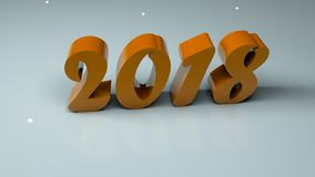 Abstract background with three-dimensional 2018 numbers. 3d rendering Stock Photos