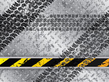 Abstract background with tire tracks. Abstract metallic plate background with tire tracks Stock Photography