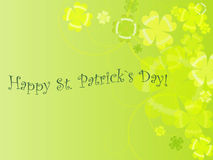 Abstract background to st. patrick`s day. With clovers illustration stock illustration