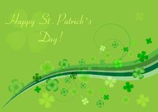 Abstract background to st. patrick`s day. With clovers  vector illustration Royalty Free Stock Images