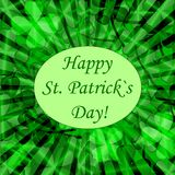 Abstract background to st. patrick`s day. With clovers  vector illustration Stock Images