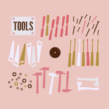 Abstract Background with tools Stock Photo