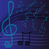 Abstract background on the topic of music. Stock picture- Abstract background on the topic of music Stock Image