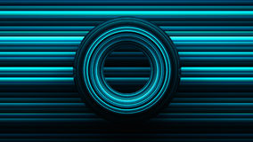 Abstract background with torus, 3D rendering, stretched pixels t. Exture Stock Image