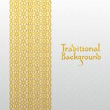 Abstract background with traditional ornament Stock Image