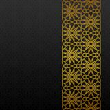 Abstract background with traditional ornament. Vector illustration Royalty Free Stock Photos