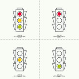 Abstract background with traffic lights Royalty Free Stock Photos