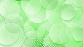 Abstract background of circles. Abstract background of translucent circles and halftone dots in green colors Vector Illustration