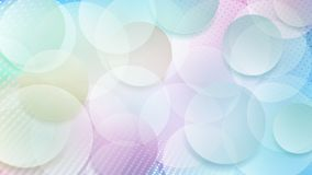 Abstract background of circles. Abstract background of translucent circles and halftone dots in light blue and purple colors Stock Illustration