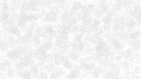 Abstract background of translucent circles. Abstract light background of translucent circles with outlines. Backdrop with randomly distributed geometric shapes Royalty Free Stock Image
