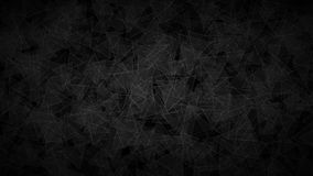 Abstract background of translucent triangles. Abstract dark background of translucent triangles with light outlines. Black shaded backdrop with randomly Royalty Free Stock Images