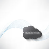 Abstract background with transparent blue waves and grey clouds. Vector EPS10 Royalty Free Stock Image