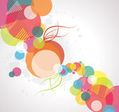 Abstract background with transparent circles Royalty Free Stock Image