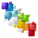 Abstract background with transparent colored Royalty Free Stock Image