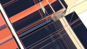 Abstract background of transparent glass. 3d illustration royalty free illustration