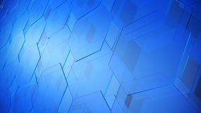 Abstract background from transparent glass tiles. 3d illustration Stock Photos