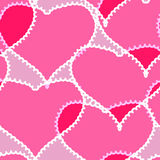 Abstract background with transparent hearts. Valentine's day pink abstract background with transparent hearts. Seamless pattern. Vector illustration Stock Image