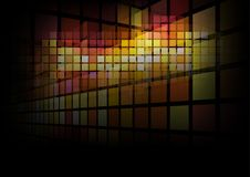 Abstract Background. Of Transparent Squares on Black - Illustration, Vector Stock Photo