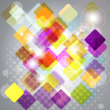 Abstract background with transparent squares. Stock Photo