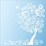 Abstract background with tree. Vector illustration Royalty Free Stock Image