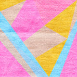 Abstract background in trendy retro 80s, 90s memphis style. Universal card, pastel colors. Retro design, fashion art. Modern geometric background in pink, blue Stock Photos