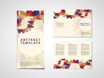 Abstract background tri fold brochure template Royalty Free Stock Photo