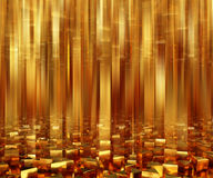 Abstract background triangle gold bars. 3d illustration Stock Images